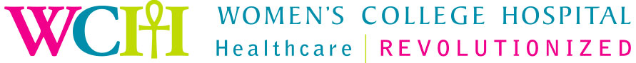 Women's College Hospital logo. Tagline: Healthcare Revolutionized