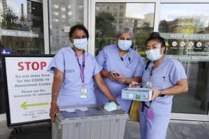 A Women's College Hospital Mobile COVID-19 Assessment Team (MCAT) sets out for a site visit.